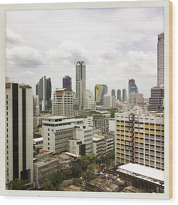 Skyline Of Bangkok Wood Print by Ixefra
