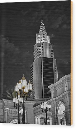 Skyscraper Wood Print by Stephen Campbell