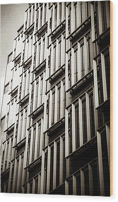 Slatted Window Architecture Wood Print by Lenny Carter