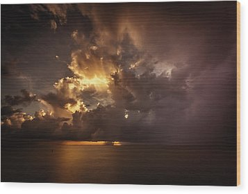 Sliver Sunrise II Wood Print by Mabry Campbell