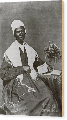 Sojourner Truth, African-american Wood Print by Photo Researchers