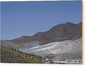 Solar Power Plant, Cala San Pedro, Spain Wood Print by Chris Knapton