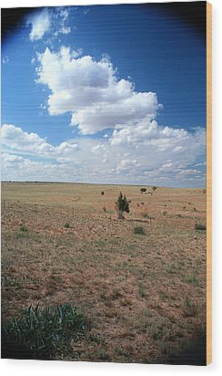 Wood Print featuring the photograph Somewhere Off The Interstate In New Mexico by Lon Casler Bixby