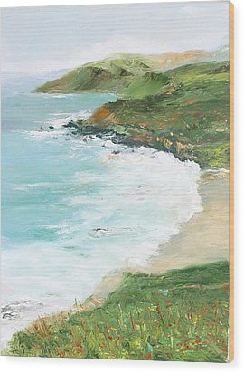 Somewhere On Big Sur Wood Print by Max Mckenzie