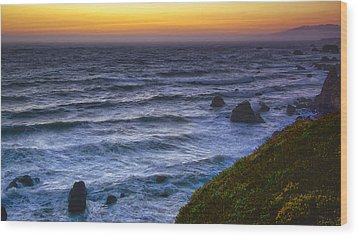 Sonoma Coast Sunset Wood Print