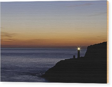 South Stack Lighthouse Wood Print by Gary Finnigan