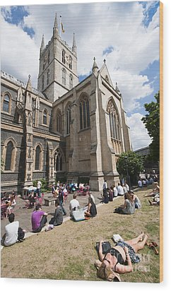Southwark Cathedral Wood Print by Andrew  Michael