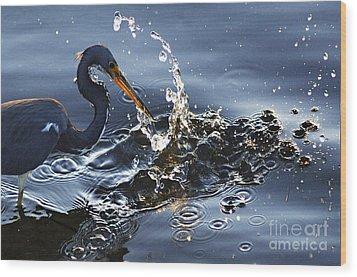 Splash Wood Print by Bob Christopher