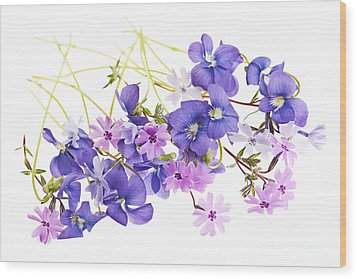 Spring Flowers Wood Print by Elena Elisseeva
