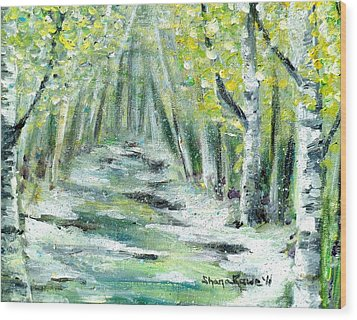 Wood Print featuring the painting Spring by Shana Rowe Jackson