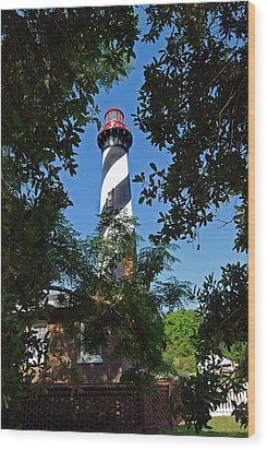 St Augustine Lighthouse Wood Print by Skip Willits