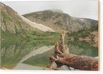 St. Mary's Lake And Glacier Wood Print by Scott Rackers