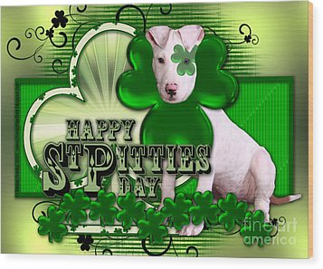 St Patricks - Happy St Pitties Day Wood Print by Renae Laughner
