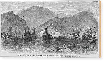 St. Thomas: Hurricane, 1867 Wood Print by Granger