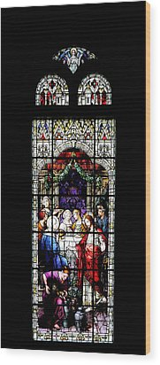 Stained Glass Window Wood Print by Rudy Umans