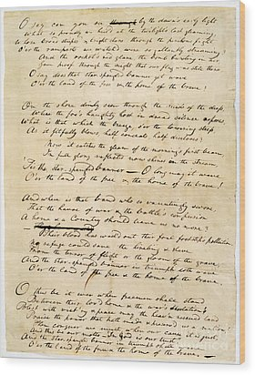 Star Spangled Banner 1814 Wood Print by Granger