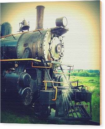Steam Engine 18 Wood Print by John Carncross