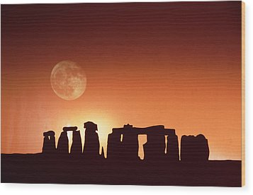Stonehenge, England Wood Print by John Foxx