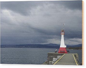 Wood Print featuring the photograph Stormwatch by Marilyn Wilson