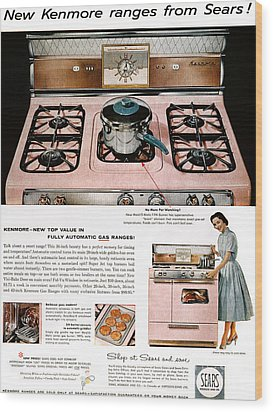 Stove Advertisement, 1957 Wood Print by Granger