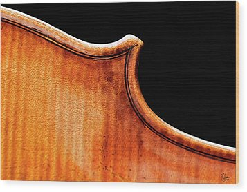 Wood Print featuring the photograph Stradivarius Back Corner by Endre Balogh