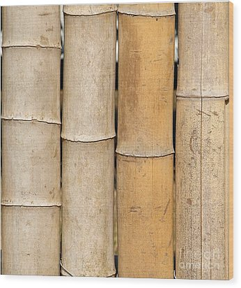 Straight Bamboo Poles Wood Print by Yali Shi