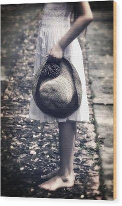 Straw Hat Wood Print by Joana Kruse
