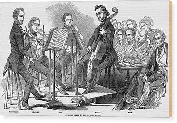 String Quartet, 1846 Wood Print by Granger