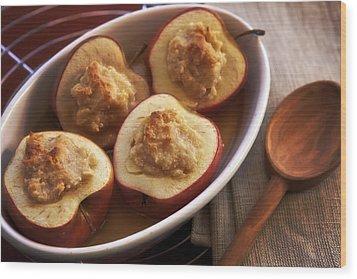 Stuffed Baked Apples Wood Print by Joana Kruse