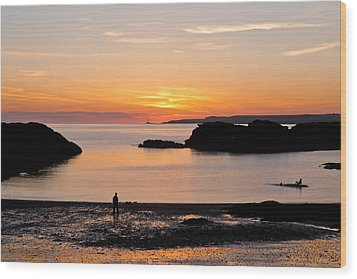 Sun And Surf Wood Print by Gary Finnigan