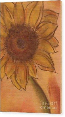 Sunflower Wood Print by Tammy Herrin