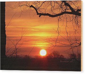 Wood Print featuring the photograph Sunrise In Tennessee by EricaMaxine  Price