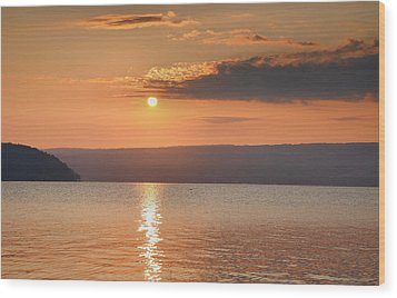Sunrise Over Keuka II Wood Print by Steven Ainsworth