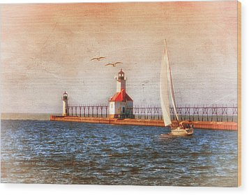 Wood Print featuring the photograph Sunset Aglow by Mary Timman
