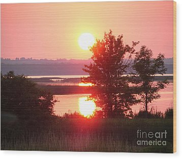 Sunset Ambience Wood Print