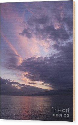 Wood Print featuring the photograph Sunset At Messina by Kathleen Pio