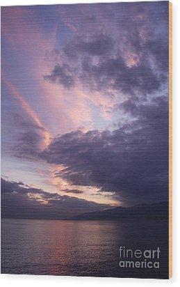 Sunset At Messina Wood Print by Kathleen Pio