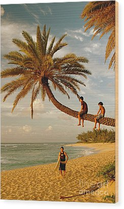 Sunset Beach Oahu Wood Print