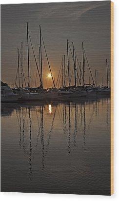Sunset Wood Print by Joana Kruse