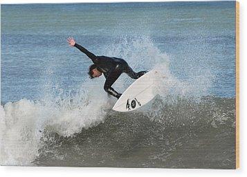 Surfing 395 Wood Print by Joyce StJames