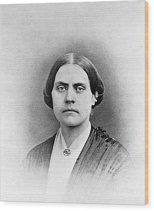 Susan B. Anthony, American Civil Rights Wood Print by Photo Researchers, Inc.