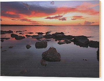 Swan Bay Sunset Wood Print by Paul Svensen