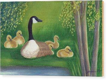 Sweet Repose  Wood Print by Jeanne Kay Juhos