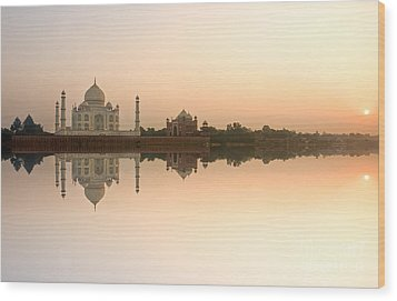 Wood Print featuring the photograph Taj Mahal  by Luciano Mortula