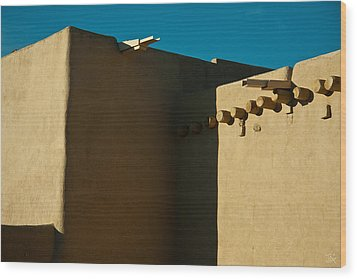 Taos Church I Wood Print