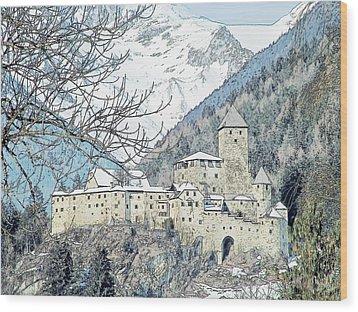 Taufers Knights Castle Valle Aurina Italy Wood Print by Joseph Hendrix