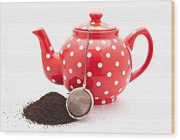 Teapot Wood Print by Tom Gowanlock