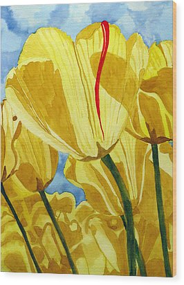 Tender Tulips Wood Print