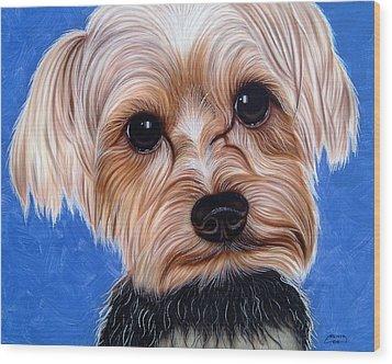 Terrier Wood Print