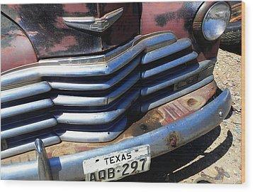 Texas Wood Print by Chuck Re
